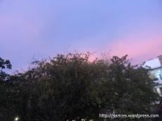 O dia que o céu ficou roxo. Em Cartagena - Colombia.